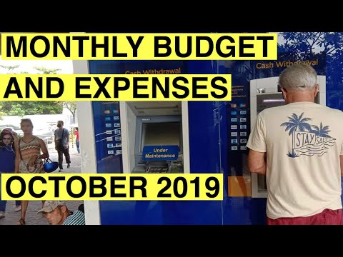 October 2019 Budget and expenses