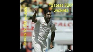 Ravichandran ashwin set world record | Fastest to get 300 wickets in test