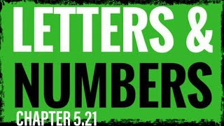05.21 Numbers As Language 5-8 (Meaning and Spiritual Significance of #'s) Letters as Numbers