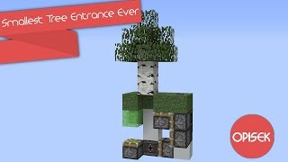 Smallest Tree Entrance Ever | Minecraft Redstone