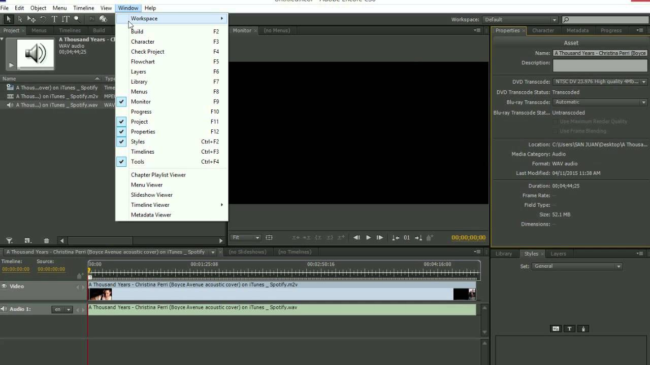 how to put a video into adobe premiere