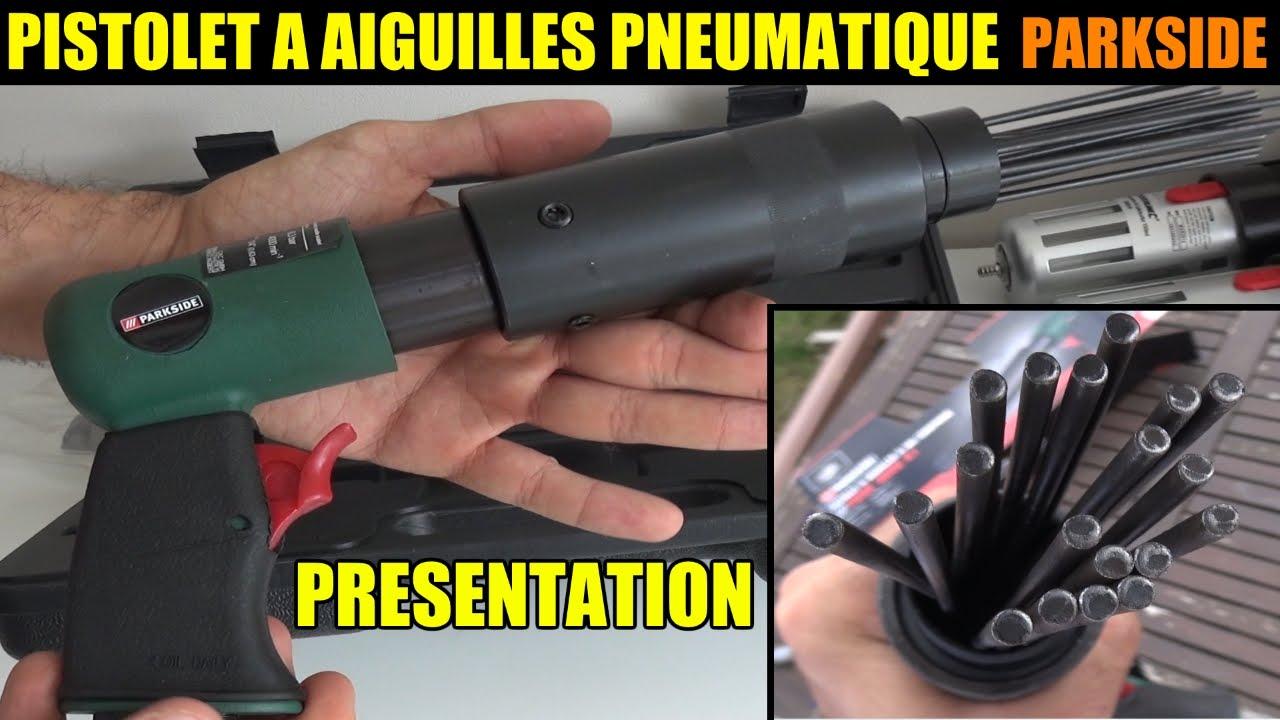 Pistolet A Aiguilles Parkside Lidl Pdne 4000 Pneumatic Needle Scaler Druckluft Nadelentroster