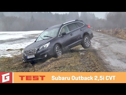 SUBARU OUTBACK 2,5i CVT - TEST - GARÁŽ.TV - NEW ENG SUB