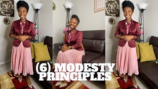 (6) MODESTY PRINCIPLES FOR DAILY CHRISTIAN DRESSING