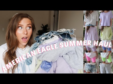 AMERICAN EAGLE SUMMER TRY ON HAUL 2020   LOUNGEWEAR, SHORTS, & MORE!