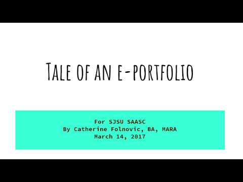 Tale of an E-Portfolio