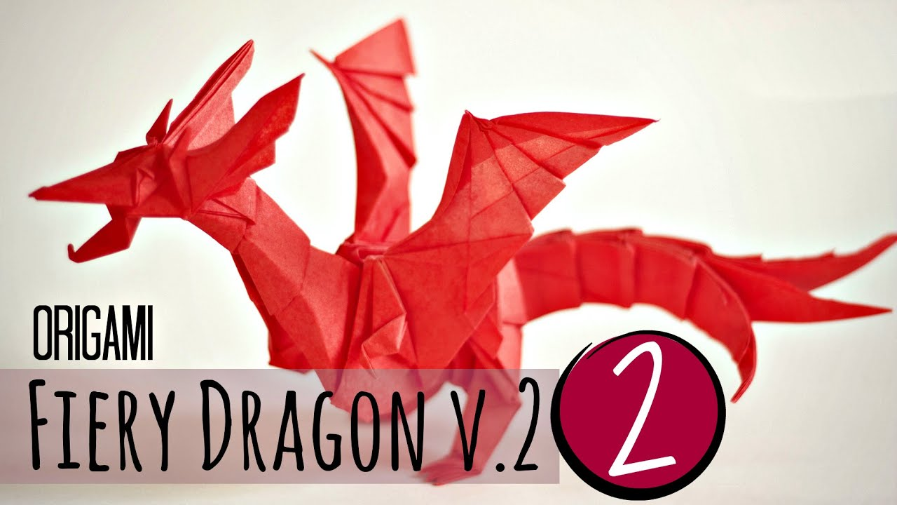 (2/5) How to make an origami Fiery Dragon v.2 - YouTube - photo#47