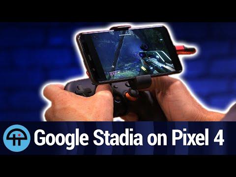 Google Stadia on the Pixel 4 XL