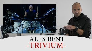 Drum Teacher Reacts to Alex Bent - Drummer of Trivium