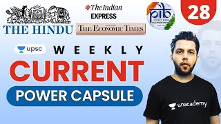 UPSC CSE 2021 | Weekly Current Power Capsule -28 by Siddharth Sir