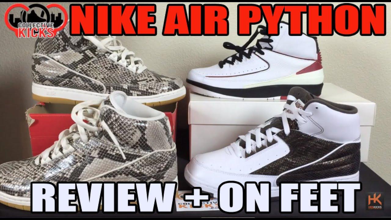 3365595dc44011 Nike Air Python Snake Skin  Premium Materials! Review Comparison On Feet