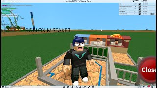 Playing roblox on a diff acc (Theme park tyccon 2)