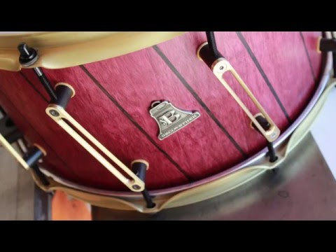 Bellwether 14X8 purpleheart and wenge snare