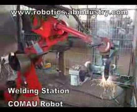 AB Industry | Welding Station with Comau Robot