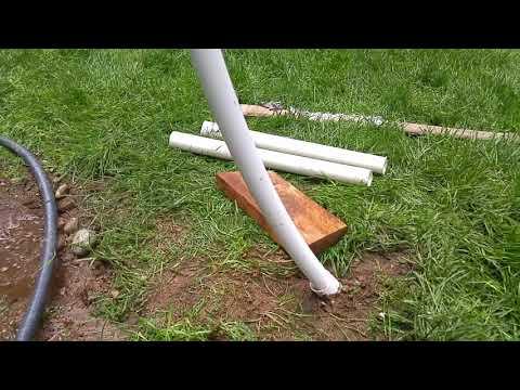 Homemade PVC net setup, Super easy, super cheap, removable | Badminton, Volley Ball.