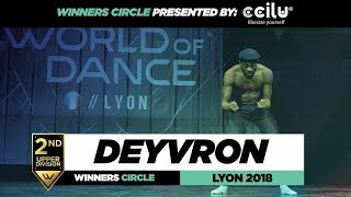 Deyvron I  2nd Place Upper Division I Winners Circle I World of Dance Lyon 2018 I #WODFR18