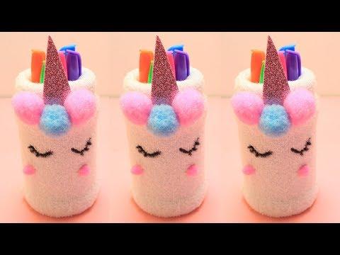 How to Make a Unicorn Pencil Holder | Pencil Holder Craft Ideas