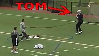Tom Brady Throws Rockets During Secret Workout