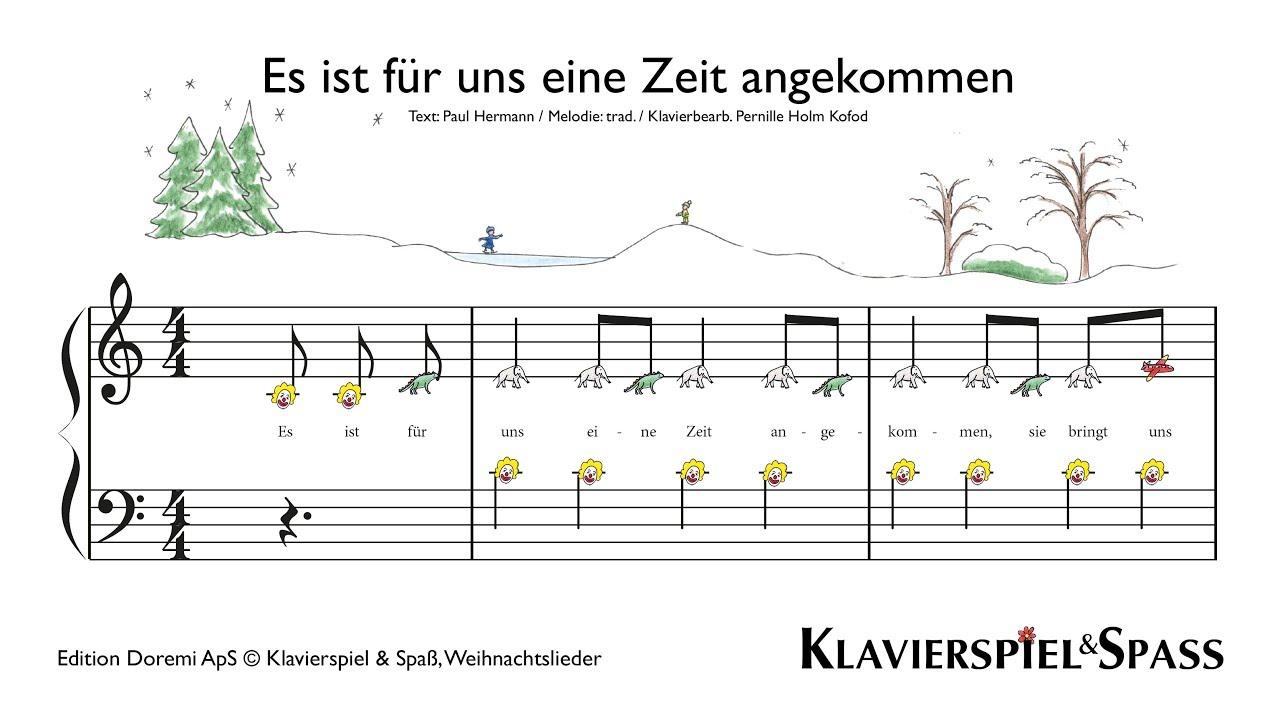 Weihnachtslieder Klavier Pdf.Es Ist Für Uns Eine Zeit Angekommen Weihnachtslieder Klavier