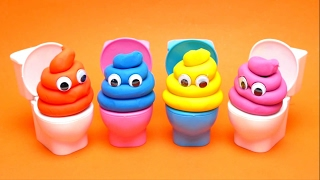Play Doh Toilet Surprise Game with Toys