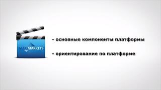 Урок 1 по новой платформе MaxiMarkets (компоненты платформы, структура)