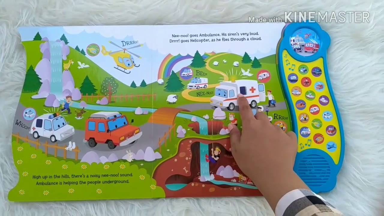 Emergency Vehicles Mega Sound Board Book with 18 Fantastic Sounds