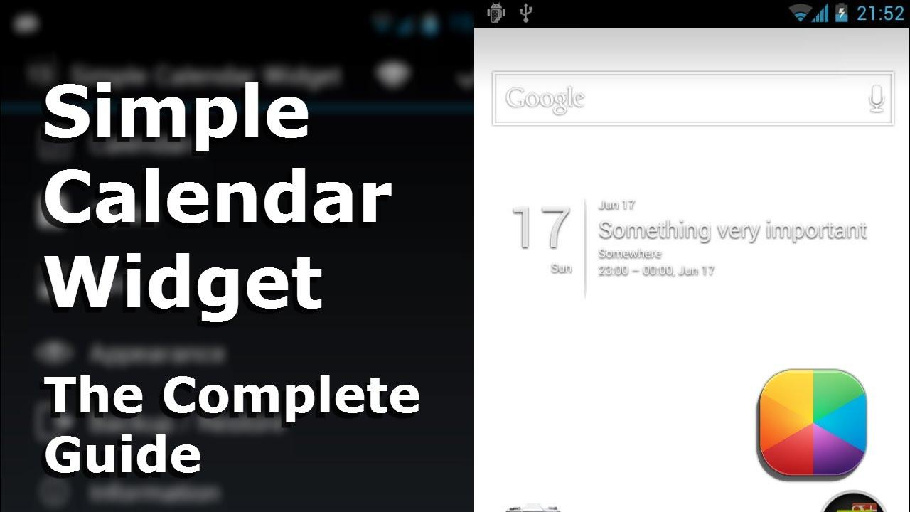 Simple Calendar Widget APK 2 4 8 - Free Productivity App for Android