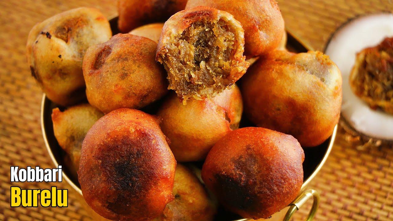 వారం రోజులు నిలవుండే కొబ్బరి బూరెలు   How to make Ugadi Special Kobbari purnalu    Vismai food