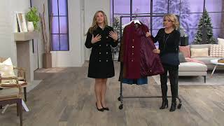 C. Wonder Double Breasted Suede Trench Coat on QVC