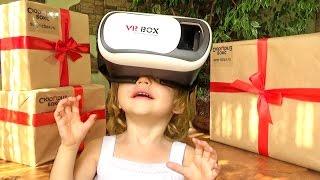 Распаковка посылки СЮРПРИЗ БОКС виртуальные очки Супер игрушки и подарки Unboxing videos for kids
