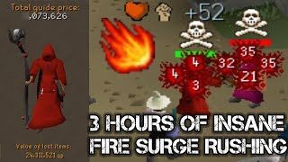 Loot From 3 Hours Of FIRE SURGE To Gmaul Rushing - OSRS
