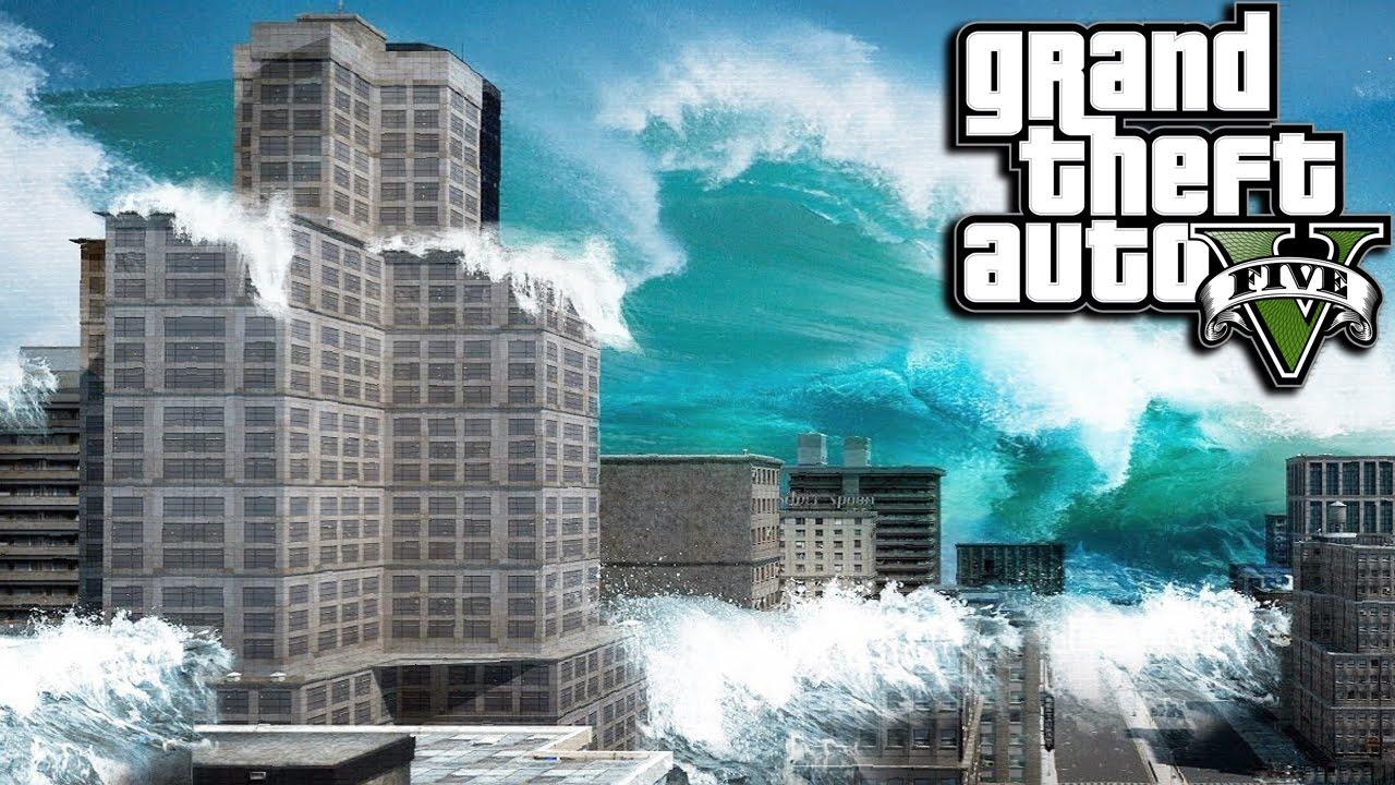 скачать мод на gta 5 цунами бесплатно