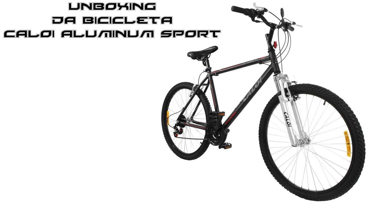 739b60fee Unboxing Da bicicleta caloi aluminum sport aro 26 - 21 marchas - alumínioa