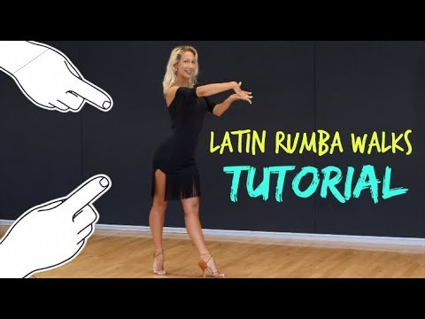 HOW TO DANCE RUMBA WALKS - LATIN BALLROOM STEPS W/ ANNA KOVALOVA