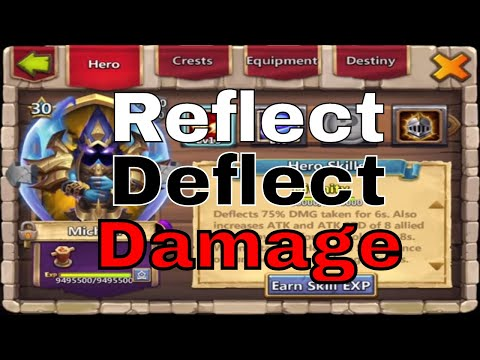 Reflect And Deflect Damage In Castle Clash