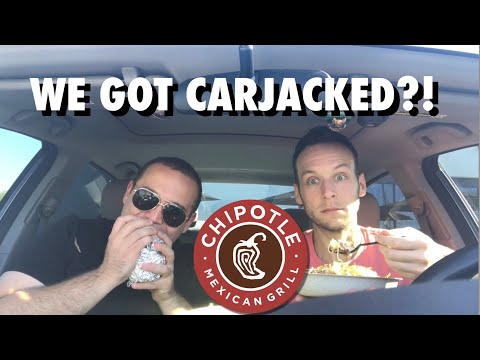 WE GOT CARJACKED?!   Chipotle Mukbang/Eat With Us/Eating Show 🌯