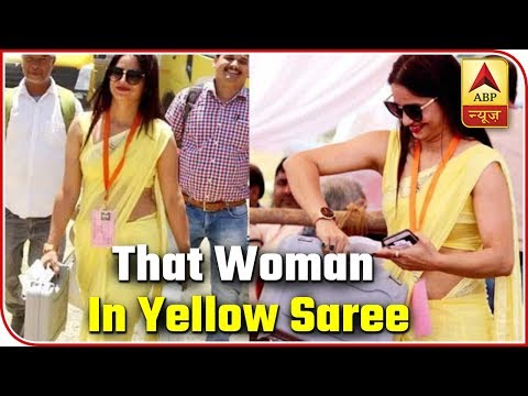 Lok Sabha Elections 2019: All About The Viral Woman In Yellow Saree | ABP News