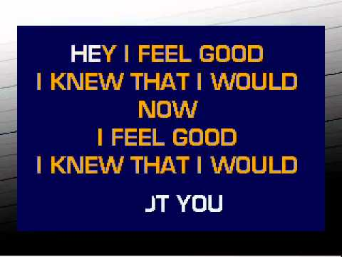 I Got You I Feel Good karaoke