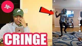 REACTING TO MY 12 YEAR OLD COUSIN CRINGEY MUSICAL.LYS!!