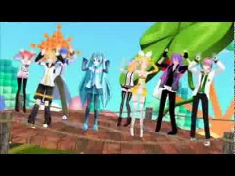 Caramelldansen mmd flash mob + Downloads in the description!
