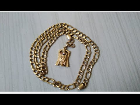 20 grams gold chain model from GRT Jewellers with dollar