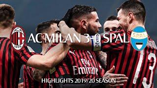 Highlights | Ac Milan 3-0 Spal | Coppa Italia Round Of 16
