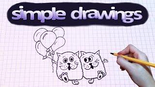 draw drawings simple birthday money cat sad beginners cats happy einstein tank apron bouquet pillow kitchen