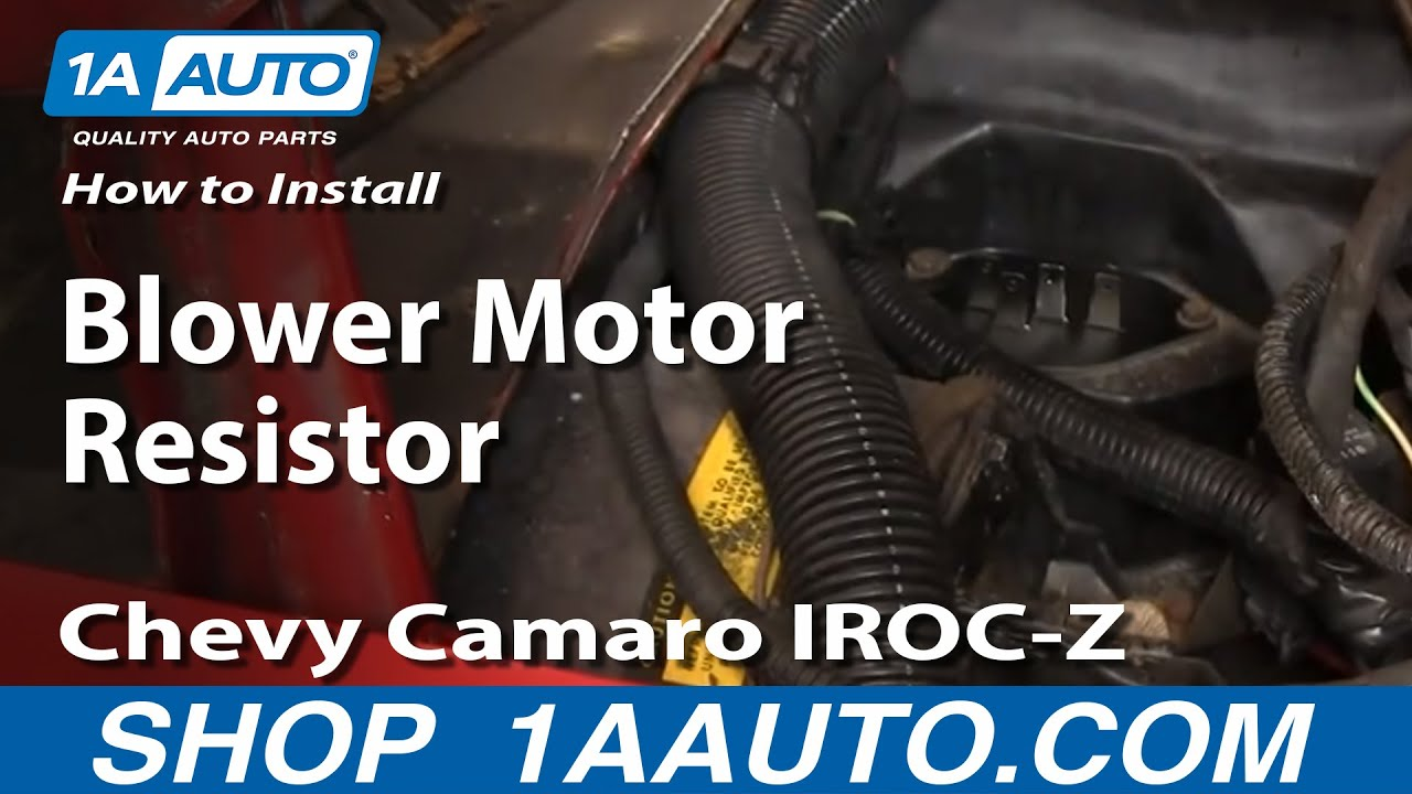 How To Replace Blower Motor Resistor 82 92 Chevy Camaro