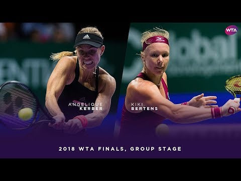Angelique Kerber vs. Kiki Bertens | 2018 WTA Finals Singapore Round Robin | WTA Highlights
