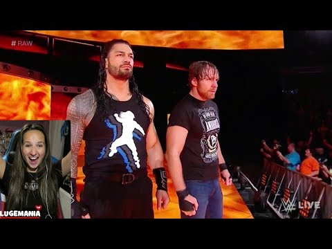 WWE Raw 10/9/17 The Shield REUNITE