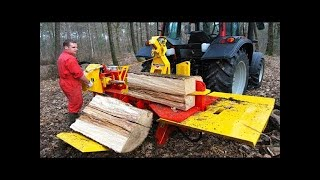 EXTREME Wood Cutting Machine - Firewood Processing Machine in Action: RaMeC Excavator Heads