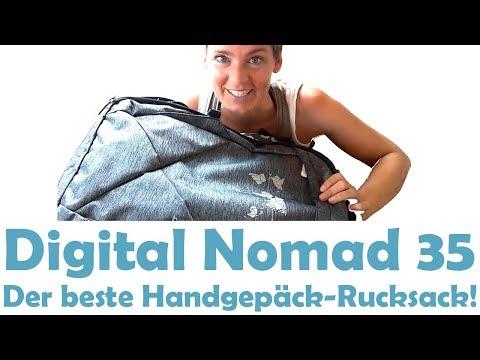 Digital Nomad 35 Handgepäck Rucksack Backpack Unboxing