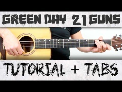 Green Day 21 guns en guitarra Tutorial completo acordes y ritmo