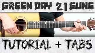 Green Day 21 guns en guitarra Tutorial completo acordes y ritmo